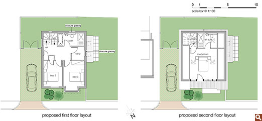 Proposed first and second floor layouts for Project Choong-Moo.