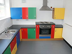 "The Woodfellas ""Lego"" kitchen."