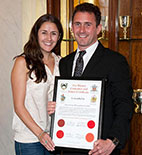 James and Carla (sister) at the Awards Ceremony