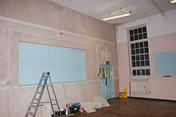 Plastering and decoration.