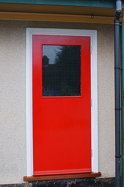 Completed fire door.
