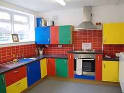 "The completed ""Lego""  kitchen."